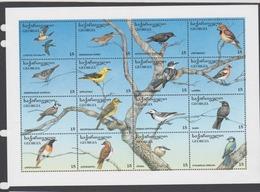 Georgia Scott 140a-140p 1996 Birds Songbirds Sheetlet,mint Never Hinged - Specht- & Bartvögel