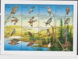 Georgia Scott 141a-141p 1996 Birds Raptors Sheetlet,mint Never Hinged - Specht- & Bartvögel