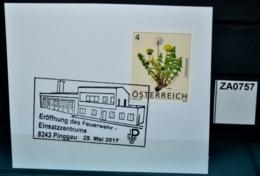 ZA0757 Eröffnung Feuerwehr Einsatzzentrum, 8243 Pinggau AT 28.5.2017 - Poststempel - Freistempel