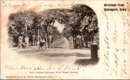 Iowa Greetings From Davenport Main Avenue Entrance Rock Island Arsenal 1904 Private Mailing Card - Davenport