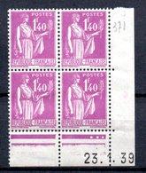 Coin Daté N° 371 ** à 10% De La Côte. A Saisir !!! - 1930-1939
