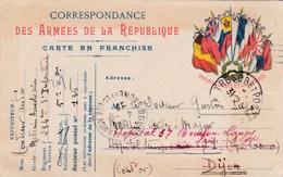 Carte Correspondance Des Armées - 29/08/16 - 234ème Régiment Infanterie Pour Hopital Dijon (21) Puis Bourbon-Lancy (71) - Oorlog 1914-18