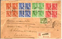 27382 - MERCURE X  4 Blocs De  4 TP - Postmark Collection (Covers)