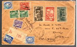 27383 - Recommandé Pour Les ETATS UNIS Avec Timbre Taxe - Postmark Collection (Covers)