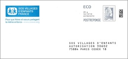 France 2018 - PAP Marianne L'Engagée - SOS Village D'Enfants ( Mi 7073xa - YT 5251 ) - Postal Stamped Stationery