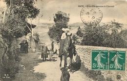 LOZERE UNE PAYSANNE A CHEVAL - France