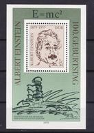 100. Geburtstag Von Albert Einstein, Block ** - [6] Democratic Republic