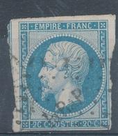 N°14 CACHET GARE. - 1853-1860 Napoléon III.