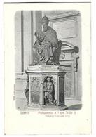 ITALIE----LORETO---Monumento A Papa Sisto V--( Antonio Calcagni 1589 )---voir 2 Scans - Italia