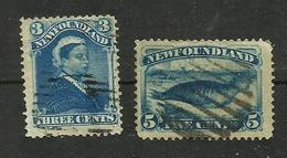 Terre-neuve N°37, 38 Cote 17 Euros - Newfoundland