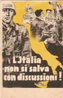 Cartolina WWII, Italia Non Si Salva Con Discussioni !, Prisonnier Italien Du Stalag VI-C, Oberlangen, Emsland, 1944 - Guerra 1939-45
