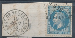 N°29 CACHET GARE. - 1863-1870 Napoléon III. Laure