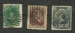 Terre-neuve N°40, 42, 45 Cote 10.50 Euros - 1865-1902