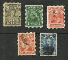 Terre-neuve N°63, 65, 67, 68 Cote 6 Euros (70 Plié Offert) - 1865-1902