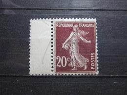 VEND BEAU TIMBRE DE FRANCE N° 139 , XX !!! (b) - 1906-38 Semeuse Camée