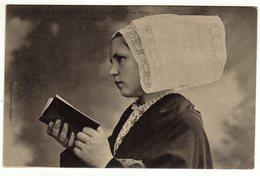 Cpa N° 1473 Jeune Fille De CROZON La Coiffe Des Grandes Fêtes Etude Des Coiffes De Bretagne - Crozon