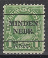 USA Precancel Vorausentwertung Preo, Locals Nebraska, Minden 669-L-1 TS, Nebr. Overprint - Vorausentwertungen