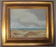 PDGL. 43. Huile Sur Toile Au Couteau. La Mer En Octobre Peint Par Le Docteur Guy De Myttenaere Dit Gédé - Huiles