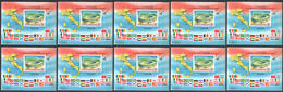 RM009 !!! IMPERFORATE 1990 ROMANIA SPORT FOOTBALL WORLD CUP ITALY 90 BL262 MICHEL 150 EURO 10BL MNH - Copa Mundial