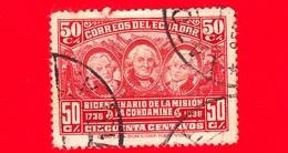 ECUADOR - Usato - 1936 - Bicentenario Della Spedizione Scientifica La Condamine - 50 - Ecuador