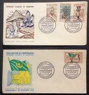 AFMAU2 Mauritanie Indépendance République Islamique Nouakchott Puits Récoltes FDC Premier Jour  28/11/1960 Lot 2 Lettre - Mauritanie (1960-...)