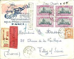 REC. Sur Lettre  PUB -Cachet HANOI.RP.TONKIN-N° 140 X 4  -1931- - Indochine (1889-1945)
