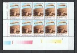 RM029 2004 ROMANIA TRANSPORT AVIATION ZEPPELIN #5849 MICHEL 22 EURO 10ST MNH - Zeppelins
