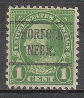 USA Precancel Vorausentwertung Preo, Locals Nebraska, Norfolk 632-225 - Vereinigte Staaten