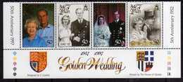 ISOLA DI MAN ISLE OF MAN 1997 ROYAL GOLDEN WEDDING NOZZE D'ORO REALI BLOCK BLOCCO MNH - Isola Di Man