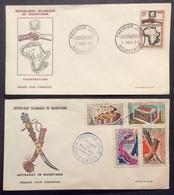AFMAU4 Mauritanie Nouakchot Coopération 7/11/1964 Artisanat 13/9/1965 FDC Premier Jour Lot 2 Lettre - Mauritanie (1960-...)