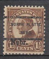 USA Precancel Vorausentwertung Preo, Locals Nebraska, North Platte 670-238 - Vereinigte Staaten