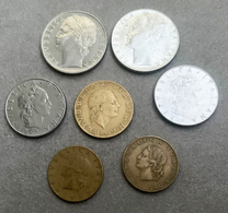 Lot De 7 Monnaies D'Italie—20 (x2), 50 (x2), 100 (x2), 200 Lires—1957-->1979 - Italia