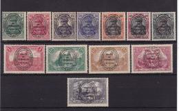 # Z.11023 Germany, Allenstein 1920 Incomplete Set Overprint, (x), Michel 15 - 17, 19 - 21, 23 - 28: Definitive Issue - Territoires Soumis à Plébiscite