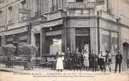 [77 Seine Et Marne > Meaux Hotel De La Gare Carte Animée Devanture De L'établissement - Meaux
