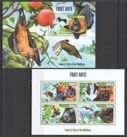 ML604 2013 MALDIVES FAUNA & FLORA WILD ANIMALS FRUIT BATS KB+BL MNH - Bats