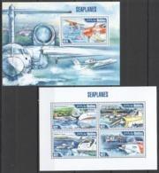 ML617 2013 MALDIVES TRANSPORT AVIATION SEAPLANES KB+BL MNH - Airplanes