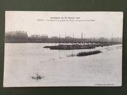 SEDAN-Inondation Du 27 Février 1910-Le Canal Et La Prairie De Torcy - Sedan