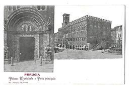 ITALIE----PERUGIA---palazzo Municipale E Porta Principale--voir 2 Scans - Perugia
