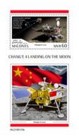 Maldives  2019   Chang'e 4 Landing On The Moon  , Chinese Space  S201904 - Maldives (1965-...)