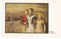 """""""Genzmer. Volkslied"""" Fine Painting, Vintage German Postcard - Escenas & Paisajes"""