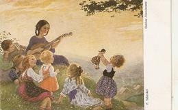 """""""F. Schenkel. Goldne Abendsone"""" Fine Painting, Vintage German Postcard - Escenas & Paisajes"""