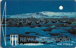 CARTE DE STATIONNEMENT PARKING CARD REYKJAVÍK ISLANDE - Francia