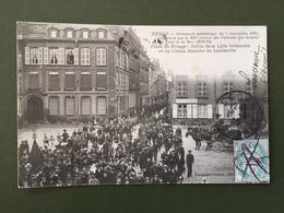 SEDAN-cérémonie Patriotique Du 3 Sept 1905-Place Du Rivage,défilé De La Lyre Sedanaise... - Sedan