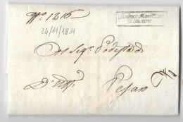 PERIODO NAPOLEONICO - DA PESARO PER CITTA' - 24.11.1811. - Italia