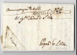 PERIODO NAPOLEONICO - DA SENIGALLIA A PERGOLA-S.VITO - 31.1.1812. - Italia