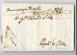 PERIODO NAPOLEONICO - DA SENIGALLIA A PERGOLA-S.VITO - 31.1.1812. - ...-1850 Préphilatélie