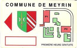 CARTE DE STATIONNEMENT PARKING CARD BANDE MAGNÉTIQUE MEYRIN SUISSE - France