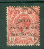Togo: 1916/20   KGV (Gold Coast) 'Togo Anglo-French Occupation' OVPT   SG H48    1d   Used - Togo (1914-1960)