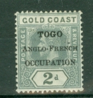 Togo: 1916/20   KGV (Gold Coast) 'Togo Anglo-French Occupation' OVPT   SG H49    2d   MH - Unused Stamps