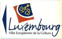 CARTE DE STATIONNEMENT PARKING CARD BANDE MAGNÉTIQUE LUXEMBOURG VILLE EUROPÉENNE DE LA CULTURE 1995 - Francia